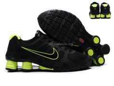 Best+Nike+Shoes+shox | Best Price Nike Shox -Turbo12 Men Black Lemon Green Shoes -