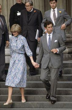 charles and diana portraits   Photos: Princess Diana's Wedding - Charles and Diana at their wedding ...