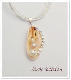 like the pearl with shell combo Cleo-design drótékszerek