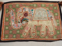 de importacion de la India, tiempo de entrega 20 dias. - Dim. 92cm x 64cm  #Decoracion #Colombia - Elephant Designer Handmade Vintage Wall Hanging Indian Ethnic Door Decor Runner