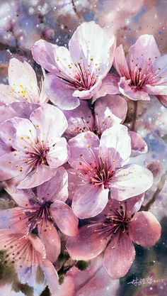 60 Exquisite Urban Watercolor Paintings by Artist Lin Ching Che Flower Backgrounds, Flower Wallpaper, Flowers Nature, Beautiful Flowers, Lotus Flowers, Watercolor Flowers, Watercolor Art, Watercolor Pictures, Simple Watercolor