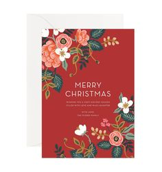 Birch Floral Custom Holiday Flat Note