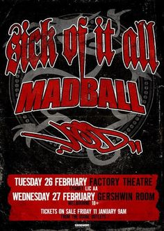 sick of it all. madball. vision of disorder. #NYHC