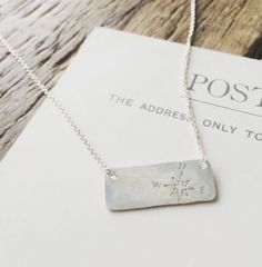 Compass Small Bar Necklace