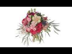 Modern Garden Style Bridal Bouquet - YouTube