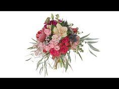 Modern Garden Style Bridal Bouquet - YouTube