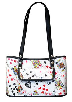 Handbag made of playing cards FREE SHIPPING tote handbags play card fun  gift gifts idea ideas for poker bridge solitaire player players club 86ee002dabfcd