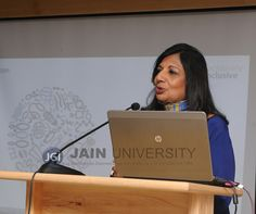 Ms. Kiran Mazumdar Shaw, Chairperson and Managing Director of Biocon Ltd. delivering valedictory address at Research Retreat 2016.