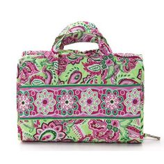 awesome Floral Quilted Cosmetic Make-up Roll and Hanging Travel Organizer - For Sale