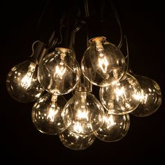 Amazon.com: 100 Foot G50 Patio Globe String Lights with Clear Bulbs for Outdoor String Lighting (Black Wire): Home Improvement