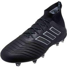 cda104008 adidas Predator 18.1 FG - Black   White Soccer Equipment