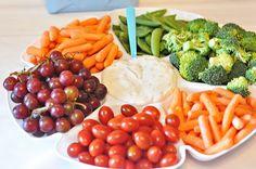 rainbow veggie and fruit tray