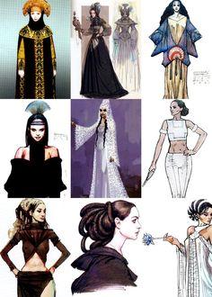 Padme costume designs.
