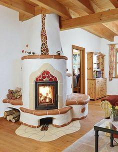 renover une cheminee dans un style kitsch