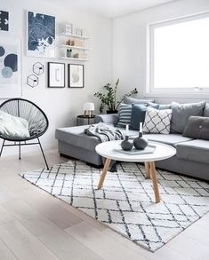 The Scandinavian living room design ideas can deliver a sense of clean and tidy to your house. The design focuses on the calm and clean atmosphere of the room. There are many Scandinavian living room designs you can try to… Continue Reading → Large Living Room Furniture, Small Living Rooms, Living Room Modern, Interior Design Living Room, Living Room Designs, Living Room Decor, Coastal Living, Dining Room, Living Room Ideas Grey And Blue