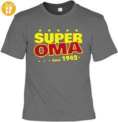 T-Shirt - Super Oma Since 1942 - lustiges Sprüche Shirt als Geschenk zum 75
