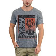 4873b436d Cincinnati Bengals Junk Food Touchdown Tri-Blend T-Shirt - Steel