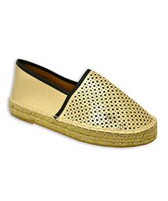 This Gold Cutout Luxe Slip-On Shoe is perfect! #zulilyfinds