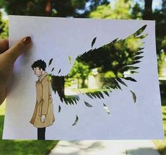 Discovered by Find images and videos about art, drawing and supernatural on We Heart It - the app to get lost in what you love. Supernatural Destiel, Supernatural Drawings, Supernatural Crafts, Supernatural Poster, Geeks, Sherlock, Sam Winchester, Superwholock, Cool Art
