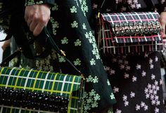 Marni Trunk Bag in Check Prints