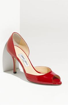red patent peep toes ... yes please!  Oh and they are Jimmy Choo