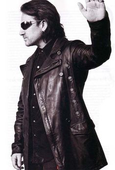 Bono in a most fabulous jacket. Great Bands, Cool Bands, U2 Poster, U2 Music, Bono Vox, Paul Hewson, Larry Mullen Jr, The Edge, Greatest Rock Bands