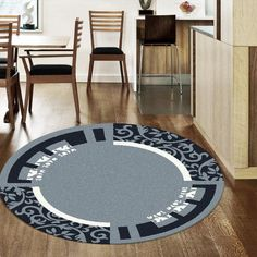 PLAIN MODERN IMPERIAL CARVING FLOOR ROUND RUGS