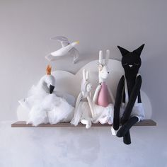 Handmade cloth doll collection by ilka