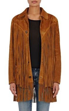 "Saint Laurent ""Texan"" Fringed Jacket at Barneys New York"