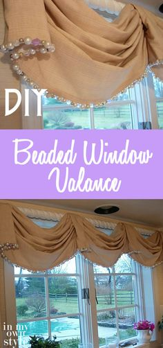 DIY Beaded Window Valance: Add flair to your windows with this inexpensive and simple window valance.