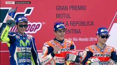 2016/4/4 motoGP 第2戦アルゼンチンGP。優勝はマルケス選手。ロッシ選手は2位、ペドロサ選手が3位。リタイヤ多数の波乱のレース。