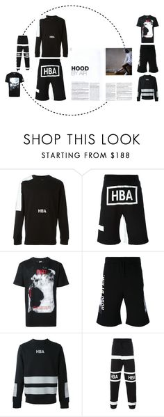 """DISCOVER HOOD BY AIR!"" by tessabit ❤ liked on Polyvore featuring Hood by Air, men's fashion, menswear, tessabit and hoodbyair"