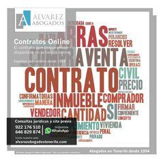 Contratos Online. El contrato que busca ahora disponible en la tienda online. Listos para descargar y además pueden ser personalizados por nuestros abogados. https://alvarezabogadostenerife.com/tienda/ #contratosonline #contratos #abogados