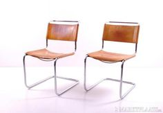 Thonet S33 Mart Stam / Brown leather