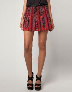 Bershka Israel - Bershka elastic waist skirt