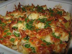 Gratinovaný květák - obrázek Ratatouille, Vegetable Recipes, Lasagna, Quiche, Food And Drink, Cooking Recipes, Homemade, Vegetables, Breakfast