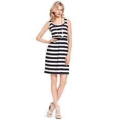 STRIPE FITTED DRESS | Tommy Hilfiger USA
