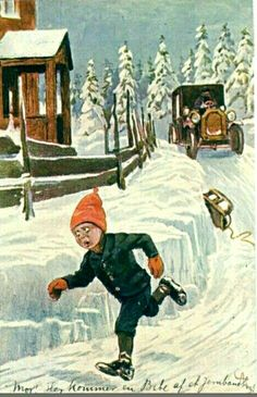 Kunstnerkort Andreas Bloch 1910-tallet