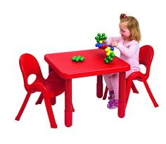 Angeles MyValue Candy Apple Red Table and Chair Set of 2 ** Click image to review more details.