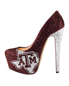 2013-14 Limited Edition Oklahoma Sooners High Heel Crystal Pump shoes (crystal pumps, glitter pumps, Oklahoma Sooner Crystal Pump, Oklahoma Sooner High Heels, rhinestone pumps) | NCAA Shoes | HERSTAR