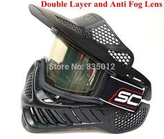 Full Face Double Lens Protective Paintball Mask