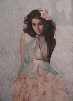 Torn Wallpaper by Ann Marshall - Pastel and Paper Collage on Paper