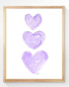 Purple and Gold Nursery Art Set of 2 8x10 by OutsideInArtStudio