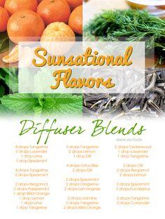 Sunsational Flavors Diffuser Blends & Recipe eBook