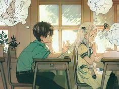 Hanako x Yashiro Anime Chibi, Manga Anime, Anime Art, Loli Kawaii, Kawaii Anime, Otaku Anime, Tamako Love Story, Anime Demon, Aesthetic Anime