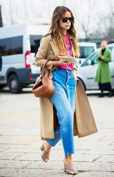 The Easy Combo This Fashion Girl Wears Over and Over via @WhoWhatWear