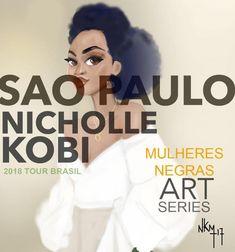 Nicholle Kobi expõe suas Mulheres Negras no Brasil em 2018 - Atualizado