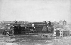 View of Santa Fe from Fort Marcy  Santa Fe, New Mexico - ca 1887  Negative #016536