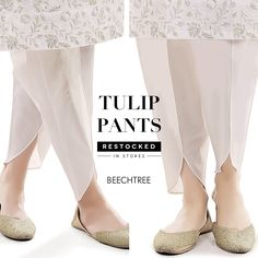 White Silk Tulip Shalwar with Pearl Embriodery, Tulip Pant, Dhoti Shalwar by KaamdaniCouture on Etsy Pakistani Fashion Casual, Pakistani Dresses Casual, Pakistani Dress Design, Eid Dresses, Casual Dresses, Dress Neck Designs, Designs For Dresses, Tulip Pants, Salwar Pants