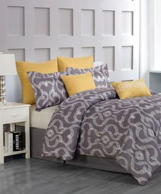 Another great find on #zulily! Gray Keasby Overfilled Comforter Set #zulilyfinds